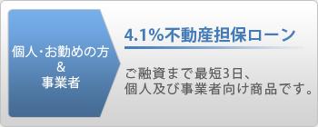 4.1%不動産担保ローン